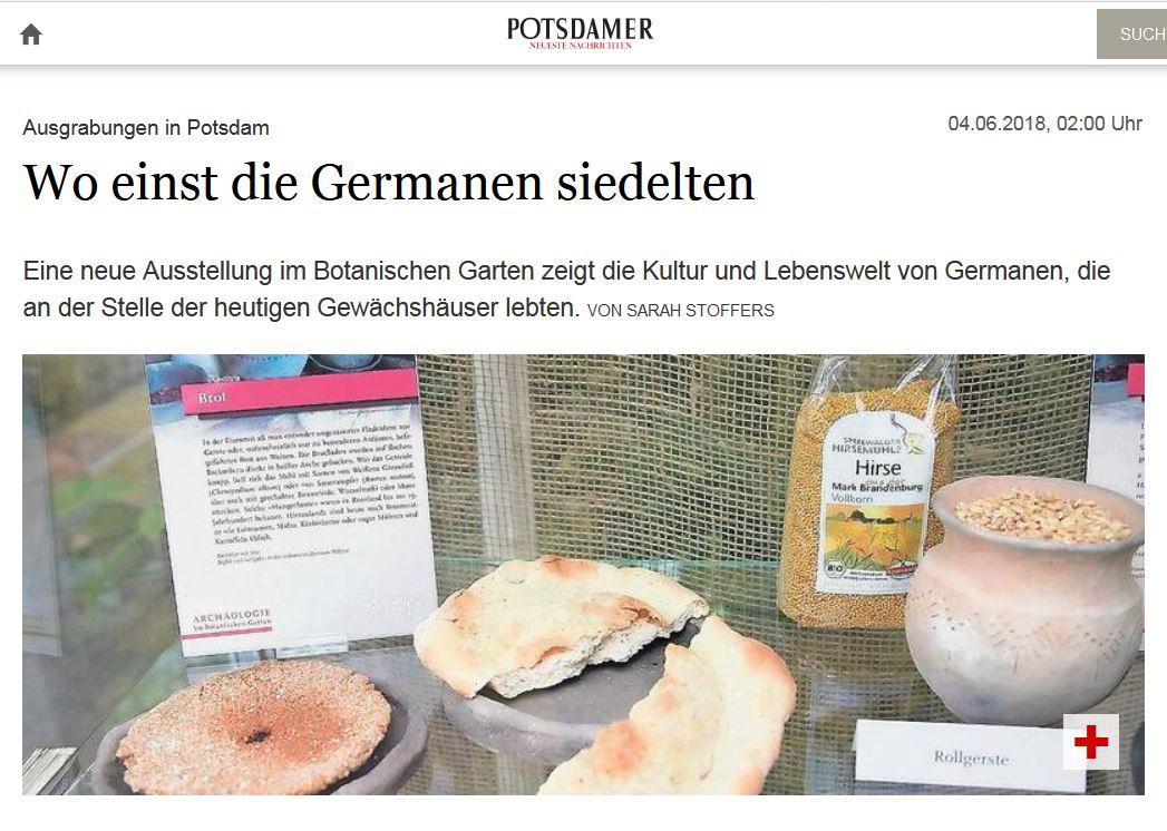 Ausstellung im Botanischen Garten / Potsdamer Neueste Nachrichten