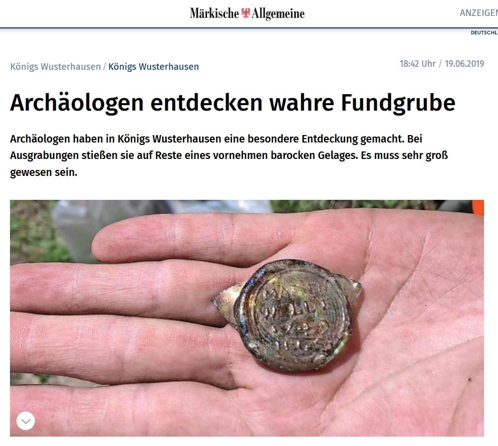 Fundgrube in Königs Wusterhausen / Märkische Allgemeine Zeitung